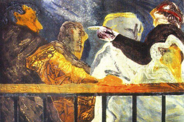 """""""Balconada III"""", 1990, 80 x 120 cm."""