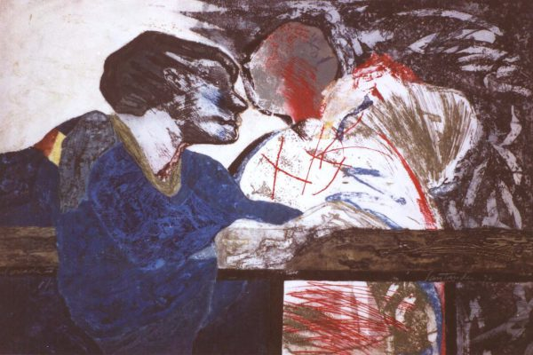 """Balconada IV"", 1990, 80 x 120 cm."