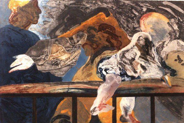 """""""Balconada V"""", 1990, 80 x 120 cm."""