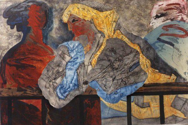 """Balconada VI"", 1990, 80 x 120 cm."
