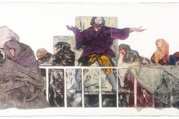 """""""Balconada goyesca"""", 1989, 28,5 x 76 cm."""