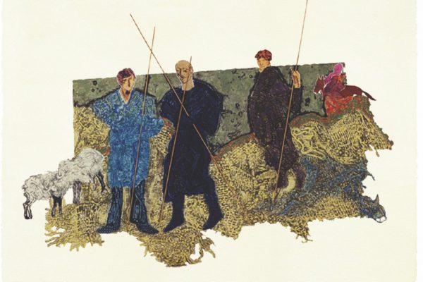 """""""Apacentando ovejas"""", 2000, 60x 80 cm."""