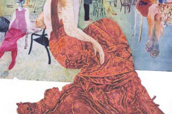 """Café Gijón"", 2001, 105 x 75 cm."