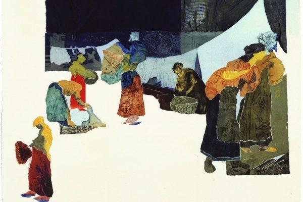 """""""Cerca del Manzanares"""", 1997, 65 x 101 cm."""