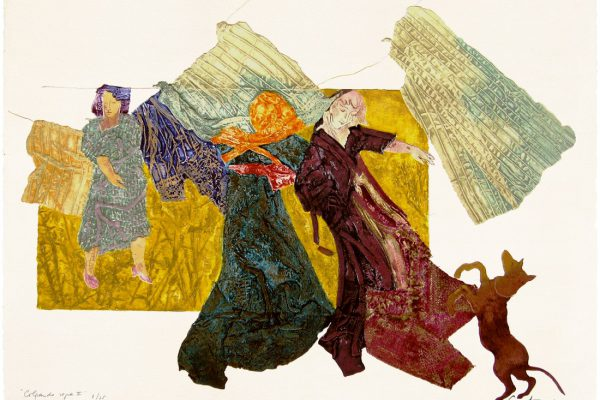 """Colgando ropa II"", 1999, 56 x 76 cm."