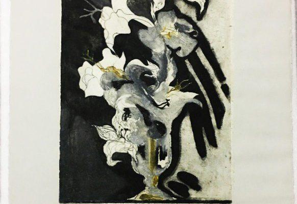 """""""Dama de noche"""", 1986, 76 x 57 cm. - Colección Instituto de Artes Gráficas Oaxaca Mexico"""