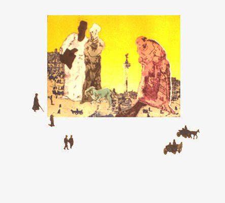 """""""El ángel y los perros"""", 1994, 76 x 56cm."""