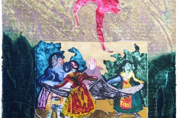"""""""El Pelele"""", 1989, 37,5 x 50 cm."""