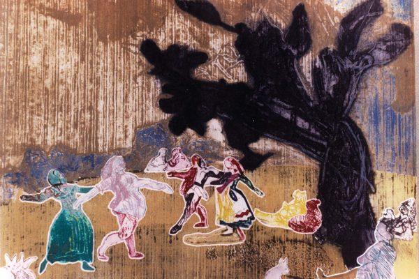 """""""El baile"""", 1989, 48,5 x 40 cm."""