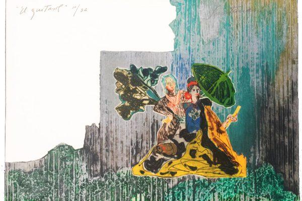 """""""El quitasol"""", 1989, 48,5 x 40 cm."""