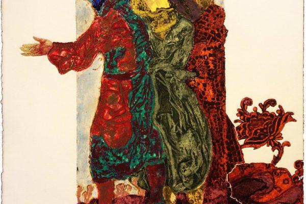 """""""Encuentro II"""", 1999, 76 x 56 cm."""
