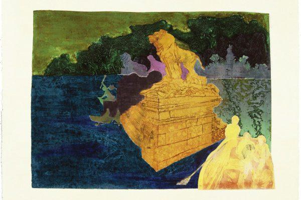 """""""Estanque del Retiro"""", 1997, 65 x 101 cm."""