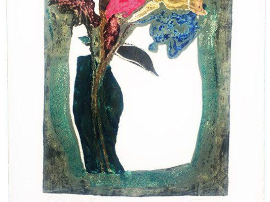 """""""Flor-color VI"""", 1997, 56 x 38 cm."""