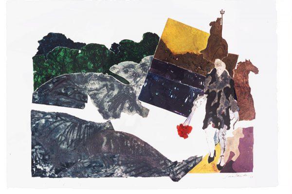 """""""Fuente de Neptuno"""", 1997, 65 x 101 cm."""