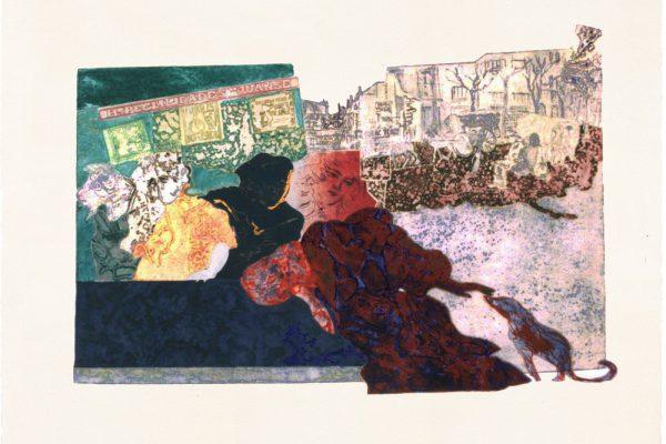 """""""Fumables inofensivos"""", 1997, 65 x 101 cm."""