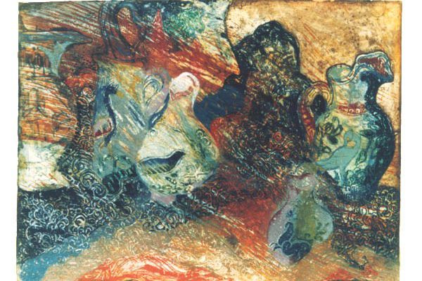 """Jarras"", 1986, 63 x 90 cm."