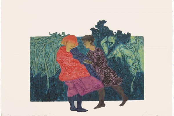 """""""Juguemos en el Bosque"""", 1999, 56 x 76 cm."""