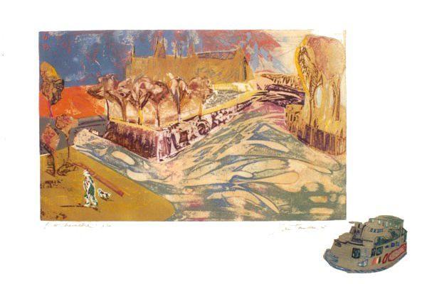 """""""L'Archeveche"""", 1995, 63 x 90 cm."""