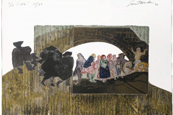 """""""La boda"""" (a sangre), 1986, 48,5 x 40 cm."""
