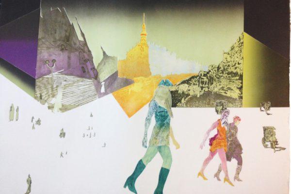 """""""La equitativa"""", 2001, 75 x 105 cm."""