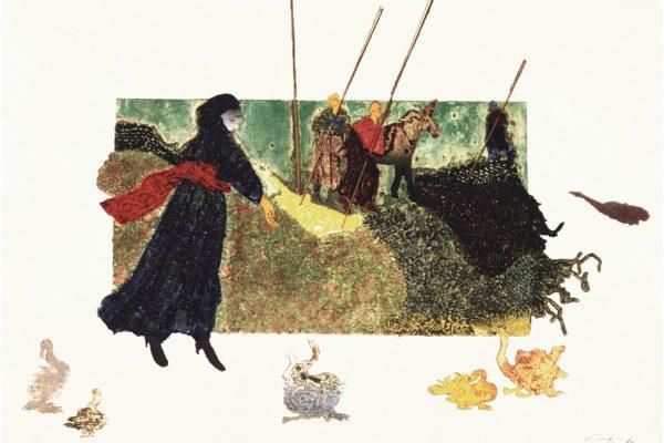 """Los gansos"", 2000, 60 x 80 cm."