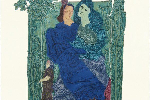 """""""Madre e hijas"""", 1999, 80 x 60 cm."""