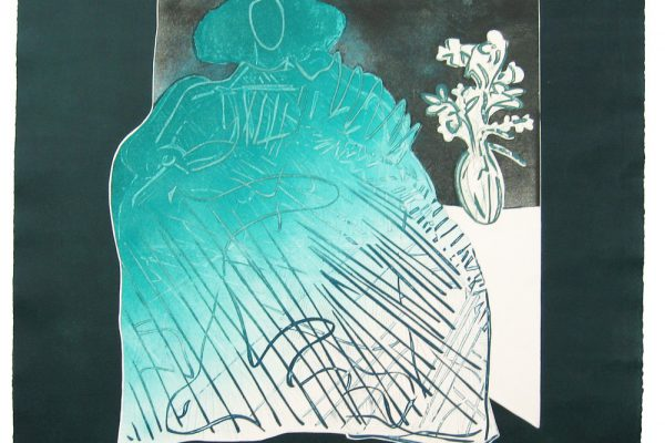 """Menina en arabescos verde"", 2005, 56 x 56 cm."