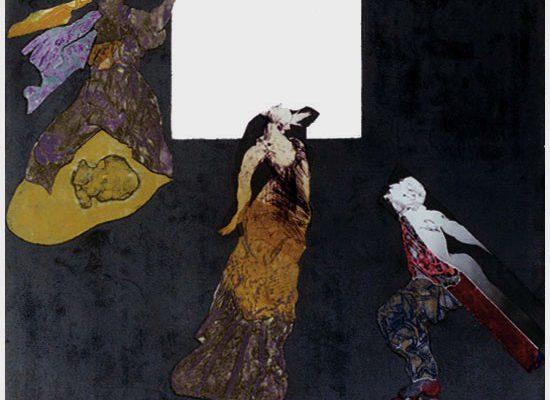 """""""Muerte y resurreción en Granada"""", 1998, 70 x 85 cm."""