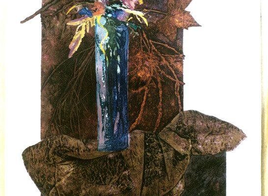 """Ocre"", 1996, 120 x  80 cm."