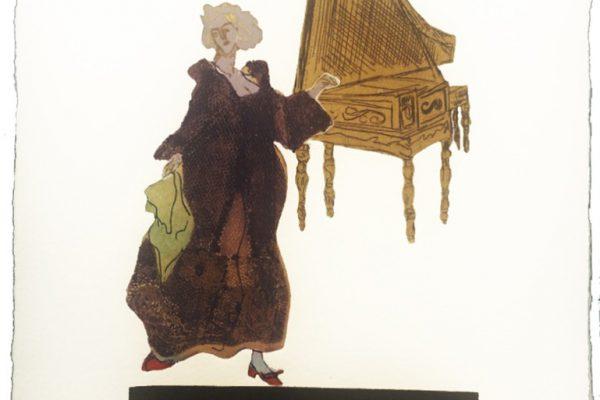 """""""Orquesta VI"""", 1996, 20 x 20 cm."""