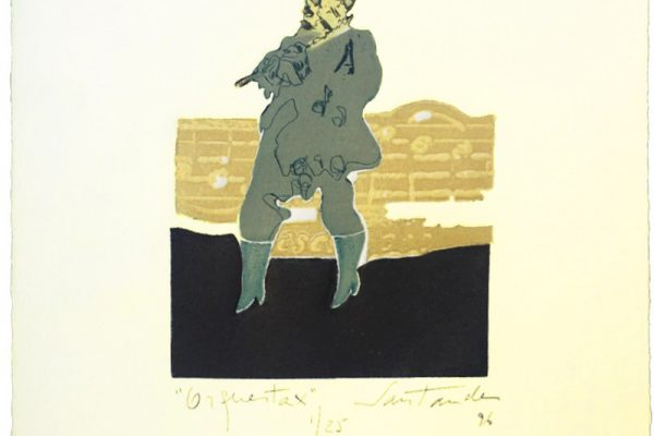 """Orquesta X"", 1996, 20 x 20 cm."