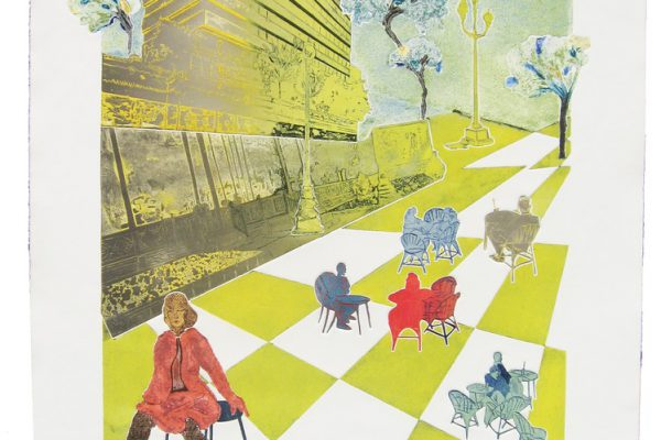 """Paseo de la Castellana"", 2001, 97,5 x 75 cm."