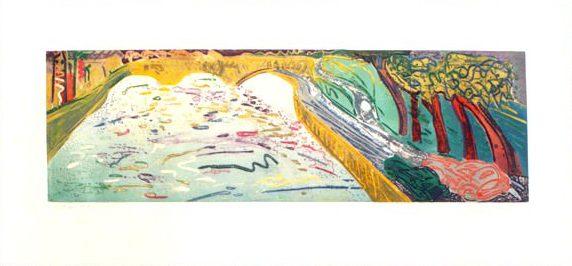 """""""Pont Au Change"""", 1995, 54,5 x 90 cm."""