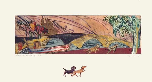 """Pont Louis Philippe"", 1995, 64,5 x 120 cm."