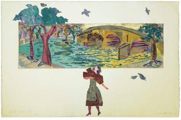 """""""Pont Marie"""", 1995, 80 x 120 cm."""