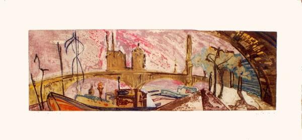 """""""Pont Sully, 1995, 54,5 x 120 cm."""