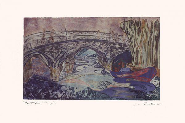 """""""Pont des Arts"""", 1995, 63 x 90 cm."""