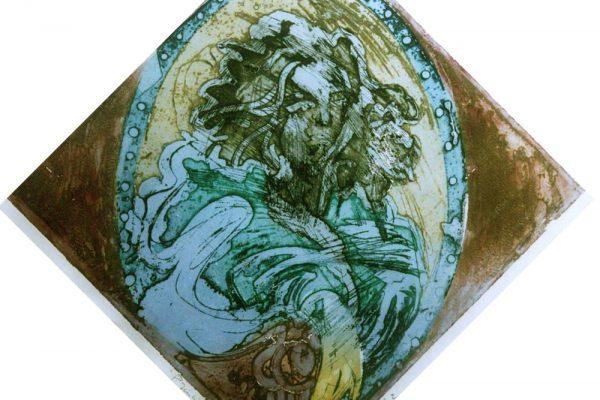 """""""Príncipe en el espejo"""", 2002, 72 x 72 cm."""