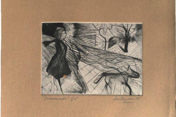 """""""Promenade"""", 1985, 20 x 25 cm."""