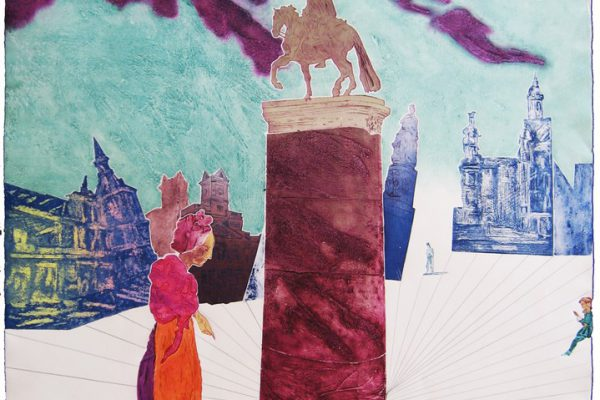 """""""Puerta del Sol"""" - variación 01, 1991, 100,5 x 75 cm."""