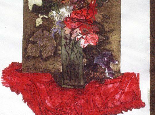 """""""Rojo"""", 1996, 120 x 80 cm."""