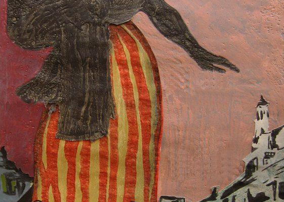 """""""Sombras"""", 2005, 142 x 75 cm."""