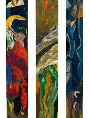 """""""Tríptico Grequiano"""", 1990, 160 x 47.5 cm."""