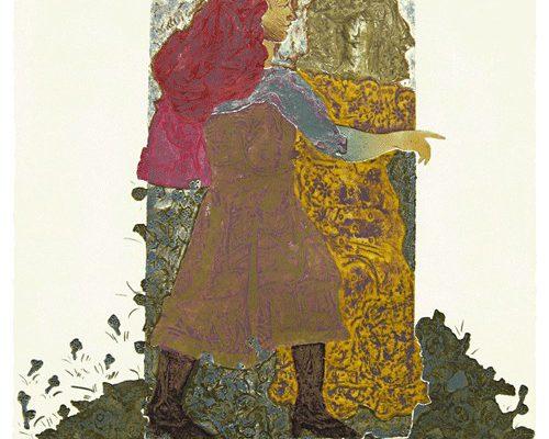 """""""Encuentro I"""", 1999, 76 x 56 cm."""