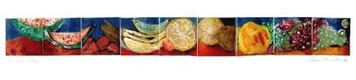 """""""Frutas"""", 1987, 25 x 110 cm."""