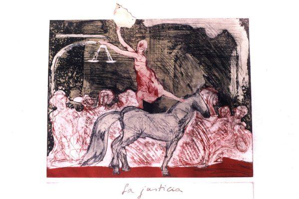 """""""La justicia"""", 1991, 50 x 76 cm."""