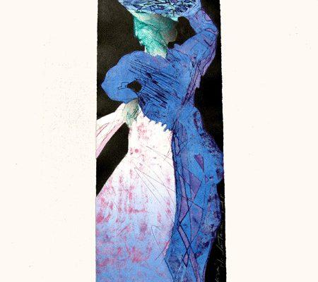 """Vendedora"", 2005, 57 x 19 cm."