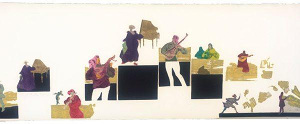 """""""Orquesta"""", 1996, 37,5 x 105 cm."""