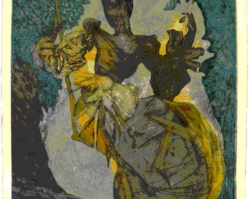 """""""Recuerdo"""", 1987, 112 x 75 cm."""